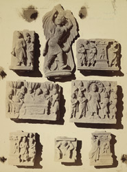 Group of Buddhist sculptures from the upper monastery at Nutta, Peshawar District 10031110